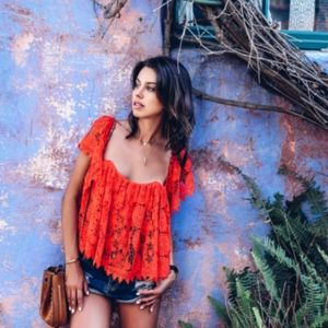 Tularosa Lace Red Top
